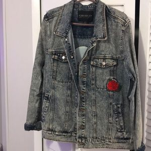 90s inspired jean jacket